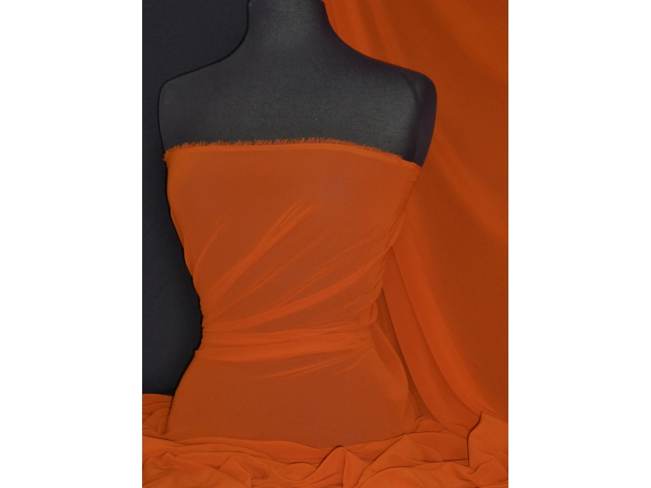 Crinkle Sheer Chiffon Material- Burnt Orange Q795 BNOR