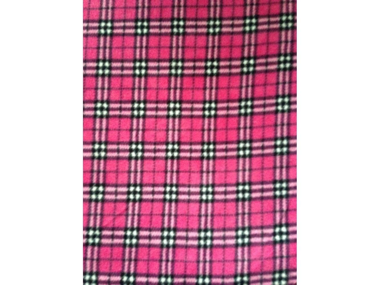 Pink/White Polka Dots Polar Fleece- Anti Pill Washable
