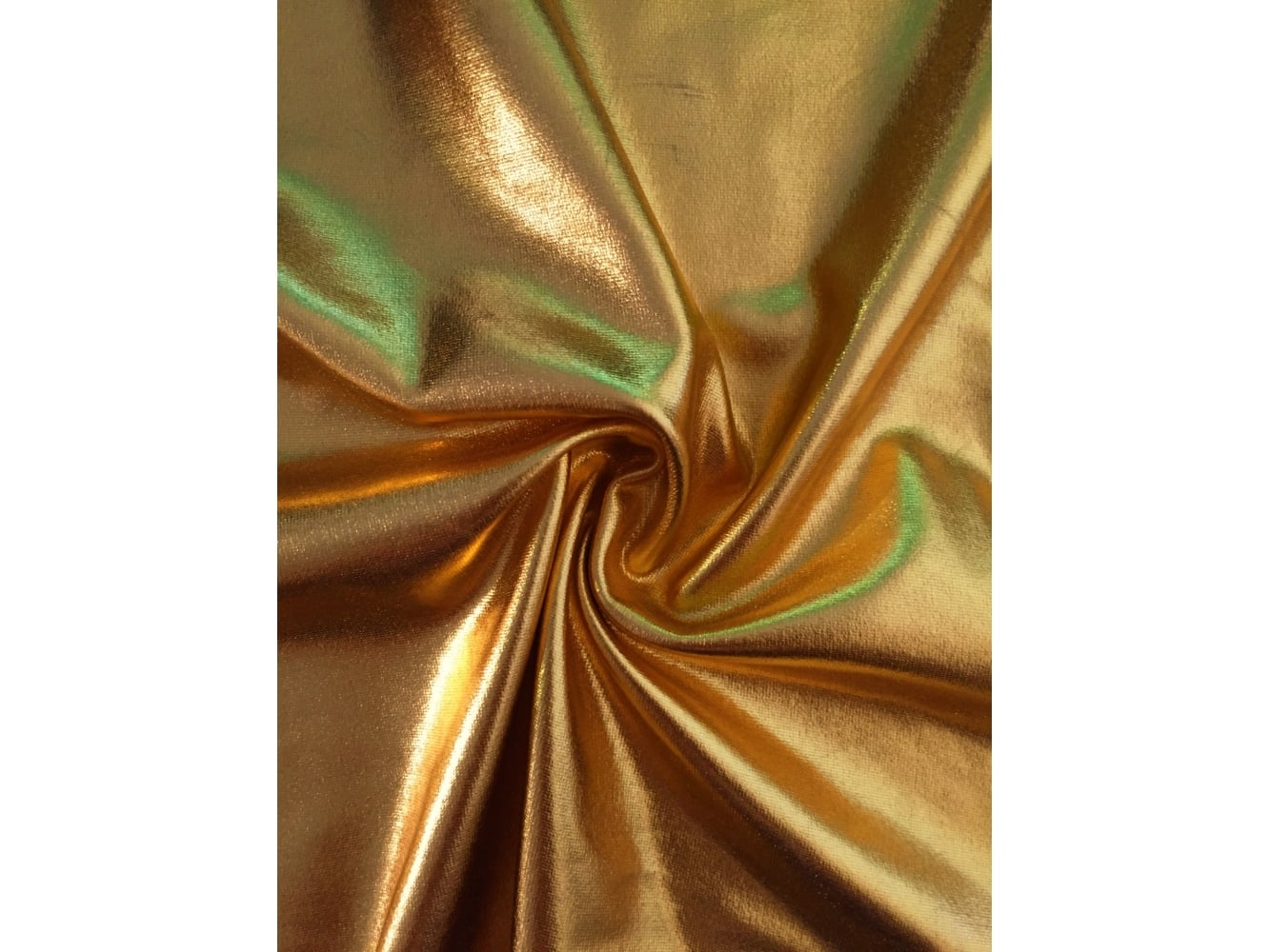 Wet look foil 4 way stretch lycra fabric sunflower gold for Lycra fabric