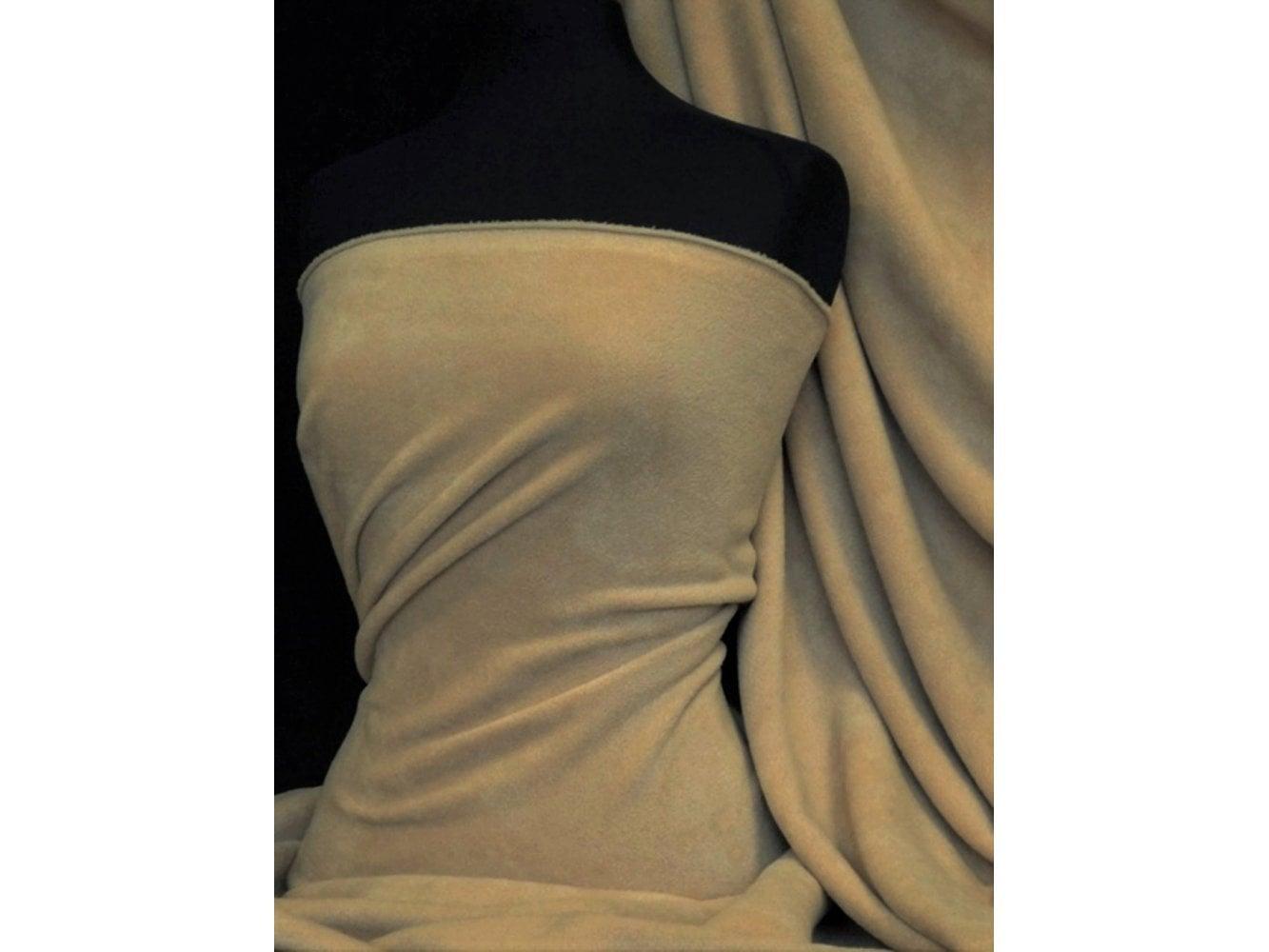 Polar Fleece Anti Pill Washable Soft Fabric- Black PF BK