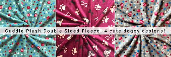 Cuddle plush double design doggy designs!