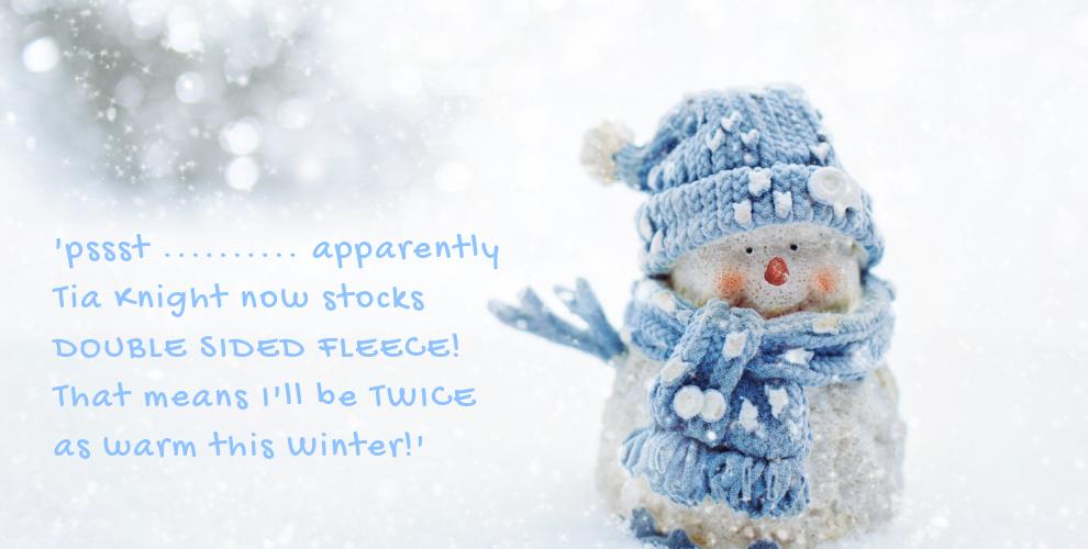 Brrrr.....NEW FLEECE!