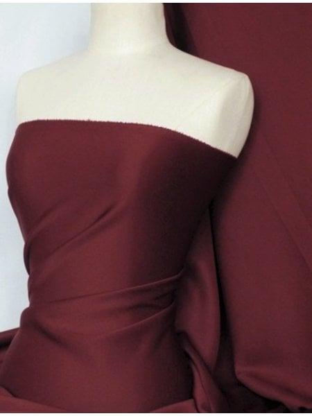 Scuba Stretch Poly Lycra Fabric- Wine Q792 WN