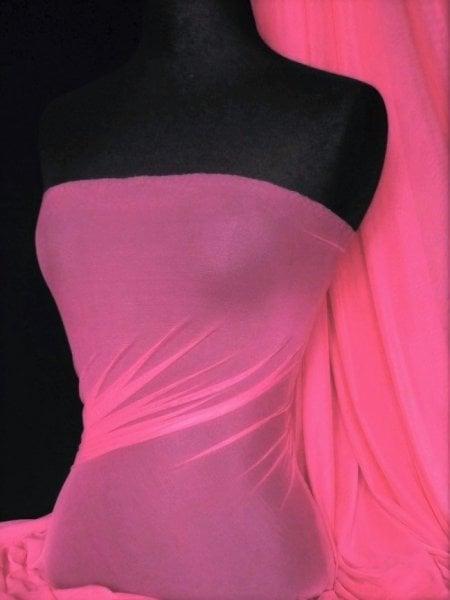 LT Power Mesh 4 Way Stretch Material- Hot Pink 109 LT HTPN