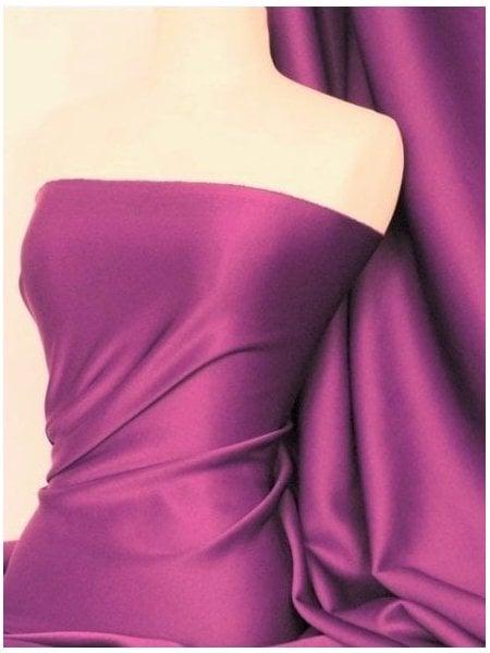 Scuba Stretch Poly Lycra Fabric- Red Q792 RD