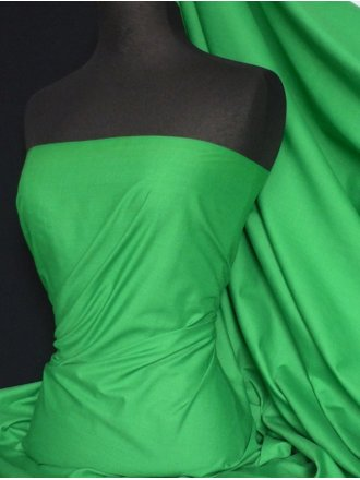 Poly Cotton Material- Leaf Green Q460 LFGR
