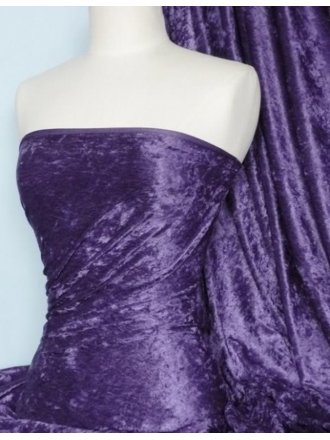 Crushed Velvet/Velour Stretch Material- Mauve Q156 MVE