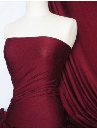 Heavy Viscose Cotton Stretch Lycra Fabric- Wine Q896 WN