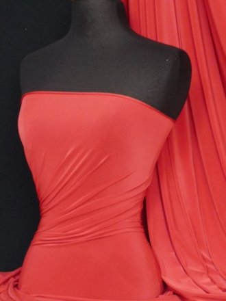 Silk Touch 4 Way Stretch Lycra Fabric- Bright Red Q53 BTRD