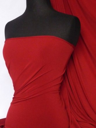 Soft Touch 4 Way Stretch Lycra Fabric- Deep Red Q36 DPRD