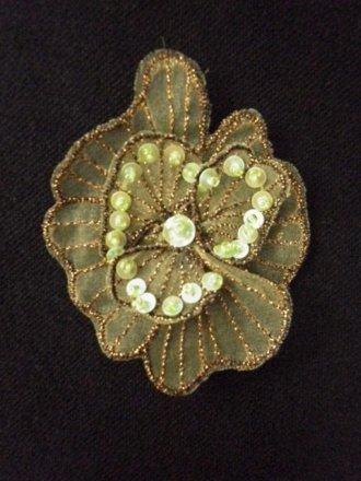 Sequin Flower Embellishment- Paradise Green EM141 PGR