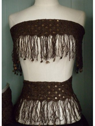 Chocolate Brown Sequin Tassel Trim