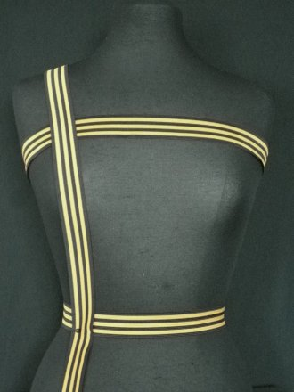 Black/ Mustard Stripe Trim