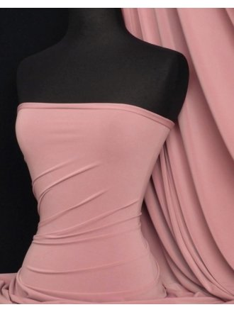 Soft Touch 4 Way Stretch Lycra Fabric- Dusky Pink Q36 DPN