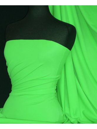 Matt Lycra 4 Way Stretch Fabric- Parrot Green Q56 PRGR
