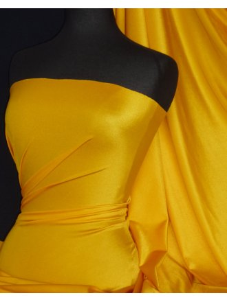 Clearance Shiny Lycra 4 Way Stretch Material- Sunflower Yellow Q54 SYL