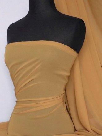 Soft Touch (112 cms) Sheer Chiffon Fabric- Butterscotch SQ30 BTSC