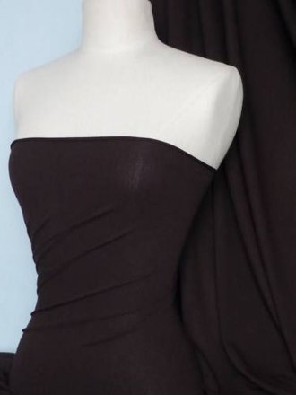 Crepe 4 Way Stretch Jersey Fabric- Chocolate Q263 CH