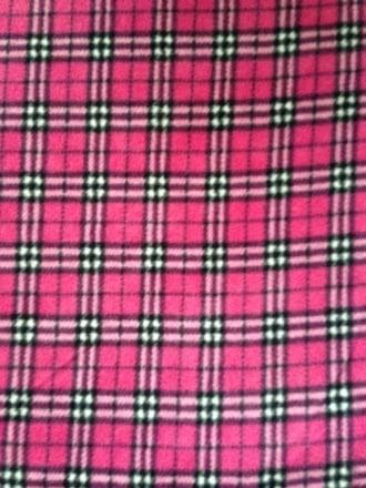 Polar Fleece Anti Pill Washable Soft Fabric- Bunnies Pink
