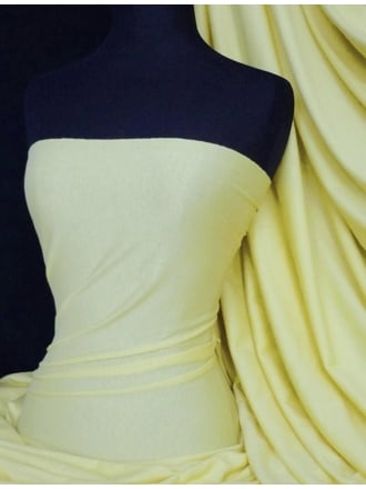 Cotton Lycra Jersey 4 Way Stretch Fabric - Lemon Q35 LMN