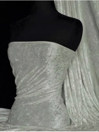 Crushed Velvet/Velour Stretch Material- Silver Grey Q156 SLVGR
