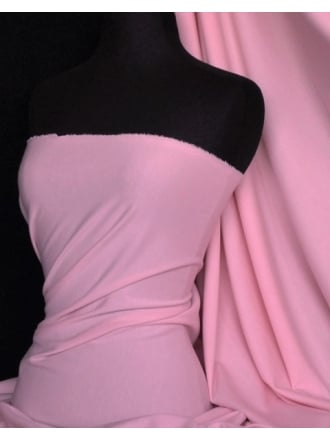 Soft Fine Rib 100% Cotton Knit Material (162 cms)- Candy Pink Q61 CPN