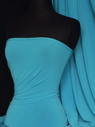 Soft Touch 4 Way Stretch Lycra Fabric- Turquoise Q36 TQS