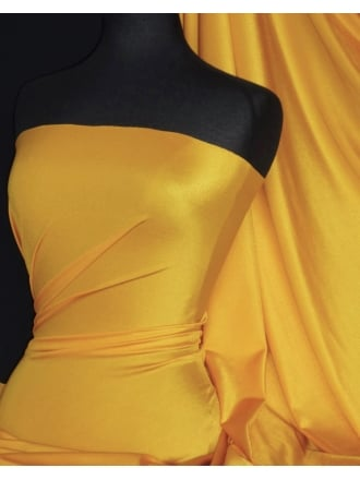 Shiny Lycra 4 Way Stretch Material- Mid Yellow Q54 MDYL