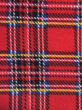 Polar Fleece Anti Pill Washable Soft Fabric- Old School Tartan Red Q1406 RDMLT