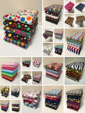 Offcuts/Remnants Joblot Assorted Fleece Bundle- Plain/Printed/Polar/Micro/Sweatshirt Fleece