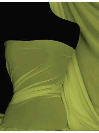 Paris Mesh Non-Lycra 4 Way Stretch Light Jersey Fabric- Lime Q450 LM