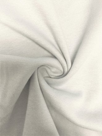 Soft Fine Rib (165 cms) Cotton Elastane 4 Way Stretch Material- Ivory White SQ220 IV