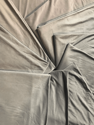 10 PIECES Clearance (1 Metre) Silk Touch 4 Way Stretch Lycra Fabric Job Lot Bundle- Grey JBL117