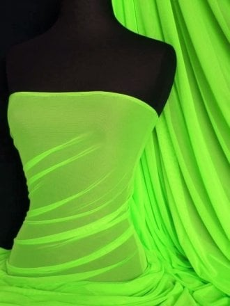 LT Power Mesh 4 Way Stretch Material- Flo Lime Green 109 LT FLMGR