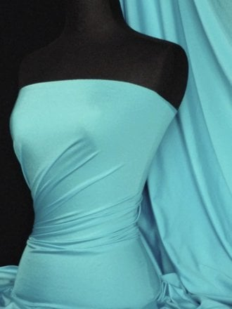 Shiny Lycra 4 Way Stretch Material- Light Turquoise Q54 LTTQ