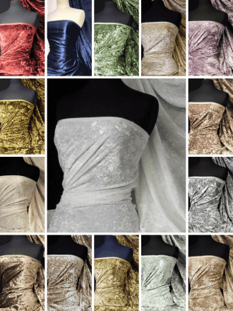 Crushed Glitz Velour/Velvet Woven Interior Fabric- SQ269