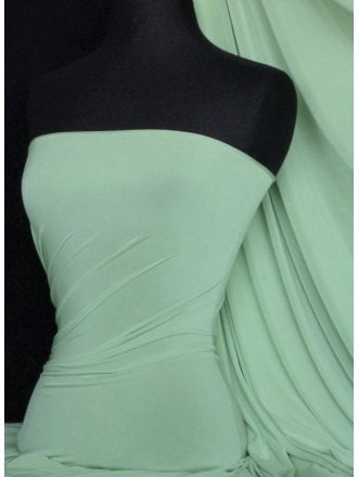 Silk Touch 4 Way Stretch Lycra Fabric- Light Soft Mint Q53 LSMNT