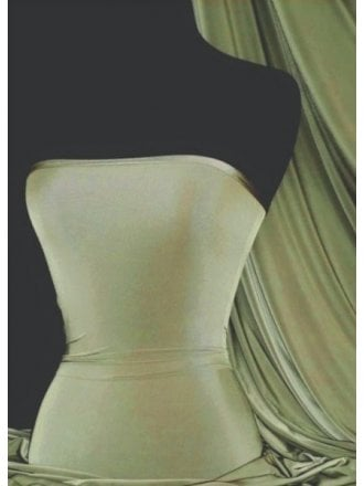 Silk Touch 4 Way Stretch Lycra Fabric- Olive Q53 OLV