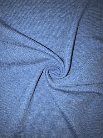 Ponte Double Knit Stretch Jersey Fabric- Marl Denim Blue Q37 DNM