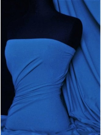 Cotton Lycra Jersey Light Weight 4 Way Stretch Fabric- Royal Blue Q1140 RBL