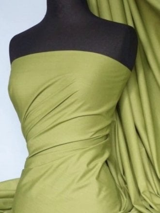 Poly Cotton Material- Olive Green Q460 OLV