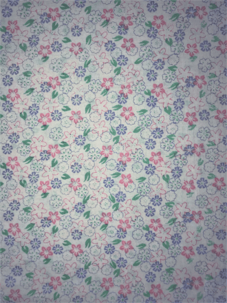 Cotton Poplin Non-Stretch Material- Moana Florals Q1417 IVMLT