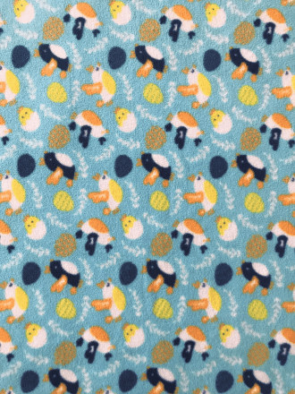 Polar Fleece Anti Pill Washable Soft Fabric- Chicks & Eggs SQ429 BLMLT