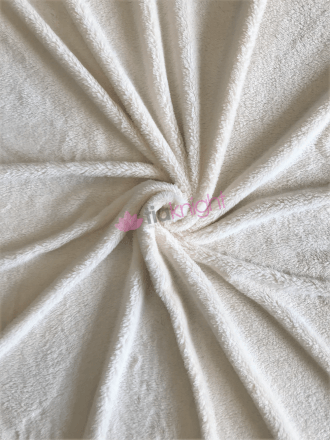 Fluffy Coral Pile Fleece- Cream SQ453 CRM