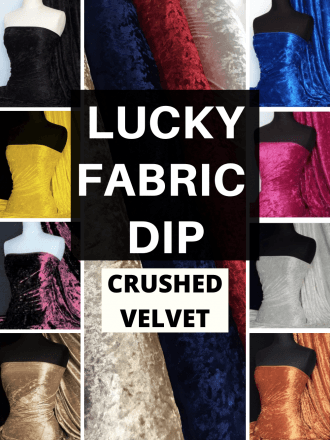 12 PIECES Lucky Dip Fabric Bundle- Crushed Velvet/Velour Stretch Fabric