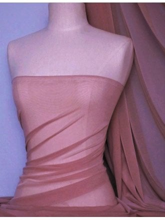 LT Power Mesh 4 Way Stretch Material- Dusky Rose 109 LT DRS