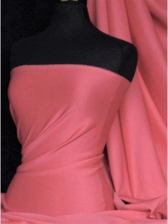 Scuba Stretch Poly Lycra Fabric- Coral Q792 CRL