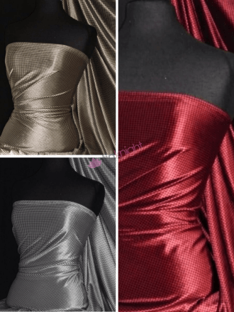 25 METRES Velvet Spandex Fabric Luxuriously Soft Velvet Material Wholesale Roll- Houndstooth JBL475