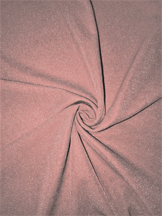Subtle Silver Shimmer 4 Way Stretch Fabric - Tea Rose SQ54 TRS