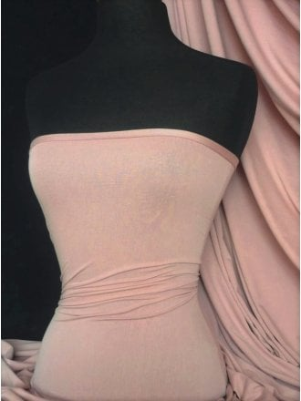Viscose Cotton Stretch Lycra Fabric- Pink Blush Q300 PNBSH